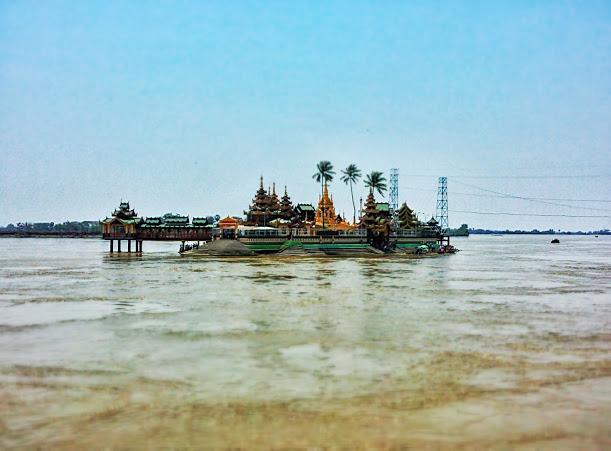 水面に浮かび上がる寺院!ヤンゴンから簡単半日旅行へ!