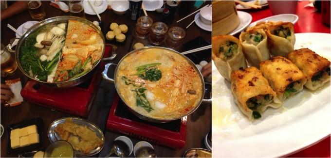 ラクサ鍋&餃子