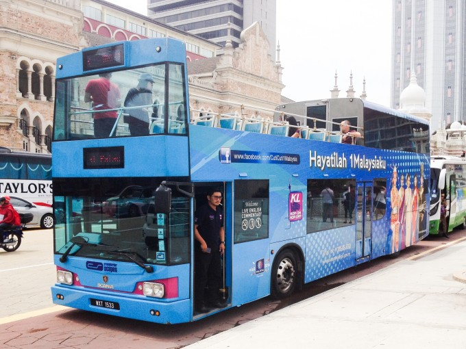 快適!クアラルンプールで体験!2階建てオープンデッキバス