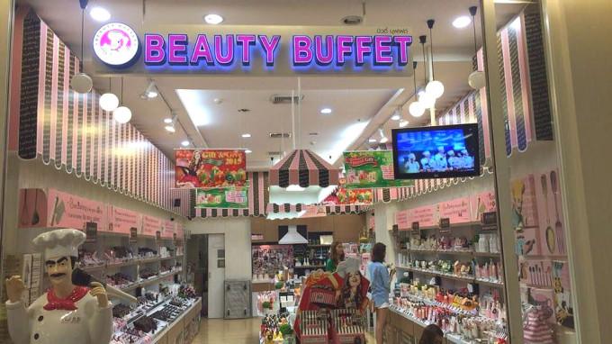 バンコクの可愛いプチプラコスメをビュッフェ感覚で選べるお店