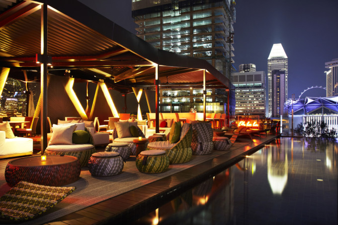 Cloud 9 Rooftop Infinity Pool - Seating Arrangement facing Ooh La La
