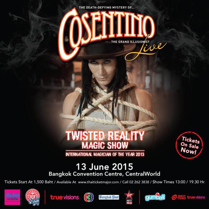 日本未上陸のイリュージョンライブ「TWISTED REALITY」がバンコクで開催