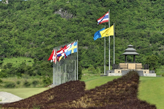Flags 26 August 2008. Black Mountain Golf Club, Hua Hin, Thailand. Mandatory credit: Richard Castka/Sportpixgolf.com