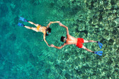 Romantic couple snorkeling in Phuket, Thailand