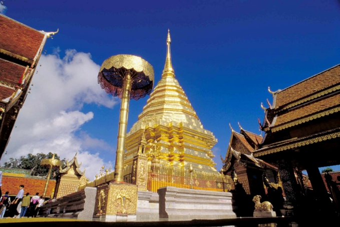 Phra That Doi Suthep Temple at Chiang Mai *** Local Caption *** วัดพระธาตุดอยสุเทพ  จังหวัดเชียงใหม่