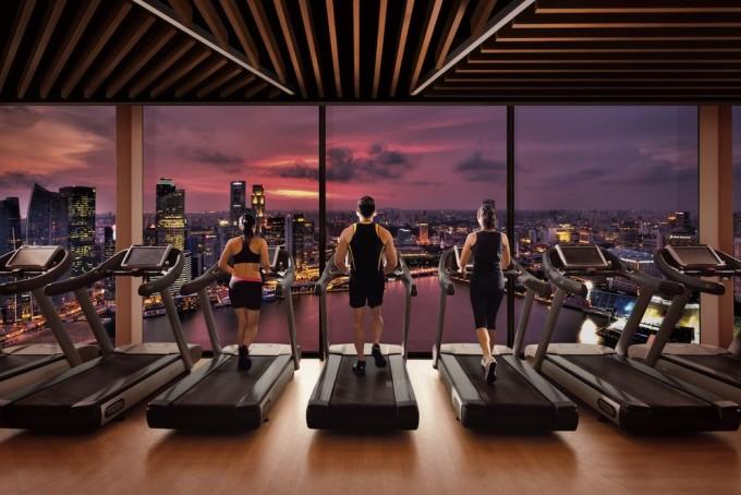 Banyan Tree Fitness Club Marina Bay Sands - Treadmills 150811[1]