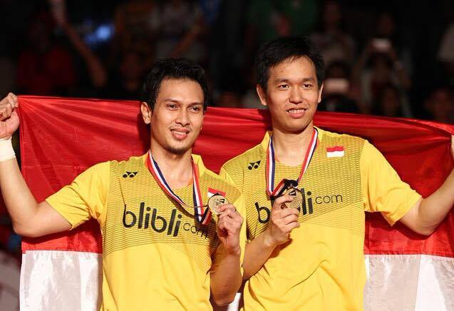 今年インドネシアで開催された世界選手権で優勝したインドネシアの男子ペア