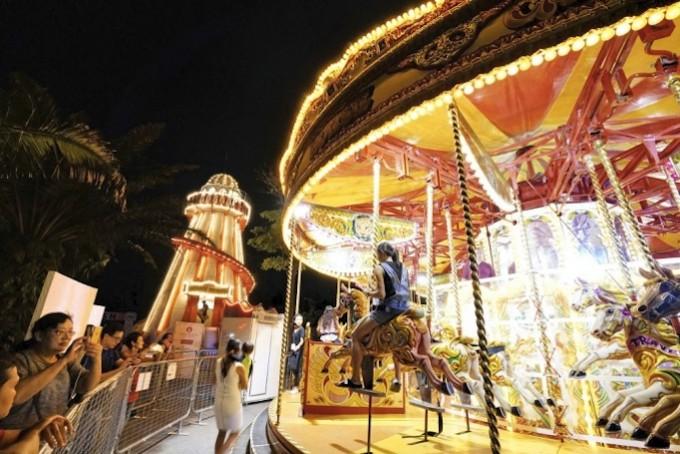 Vintage-Carousel-and-Slide_Fotor