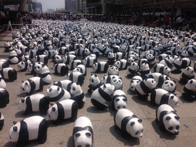 1600頭のパンダがバンコクとアユタヤに集結!「1600 pandas」