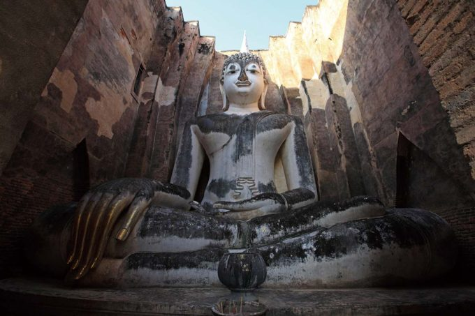 Phra Achana Buddha Image is located in Sri Chum Temple at Sukhothai Historical Park, Sukhothai