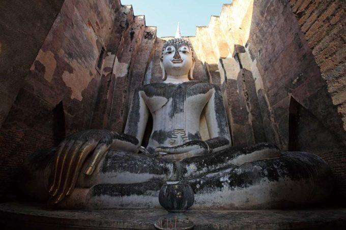 Phra Achana Buddha Image is located in Sri Chum Temple at Sukhothai Historical Park, Sukhothai