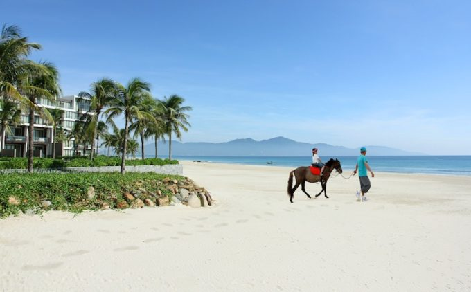 Poised on a tranquil stretch of white-sand beach, between the Marble Mountains and the sun-kissed beachscape of renowned Nuoc Non is Hyatt's newest offering in Vietnam. Hyatt Regency Danang Resort and Spa - our resort has ushered in a new era in contemporary design with touches of the Asiatic. The resort feels secluded, yet just 15 minutes from Danang International Airport making both location and accessibility most favorable for group events. Situated in Danang only moments away from the UNESCO World Heritage Town of Hoi An and two international class golf courses.   Beyond the 193 guest rooms, Hyatt Regency Danang Resort and Spa offers 27 private pool villas and 95 residences. In the centre of the resort's ocean front is a labyrinthine pool where guests can enjoy the depths of an Olympic size swimming area or splash about in the narrower shallows. Both upscale and casual dining options are located around the pool, all with views of the ocean, stunning Son Tra Peninsular, Cham Islands and tropical terrain behind. Hyatt Regency Danang Resort & Spa Truong Sa Street, Hoa Hai Ward, Ngu Hanh Son District, Danang, Vietnam, Tel: +84 511 398 1234   Fax: +84 511 398 1235   danang.regency@hyatt.com http://danang.regency.hyatt.com