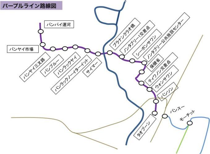 パープルライン路線図