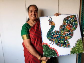 ギネス世界を持つインドの砂絵ランゴリアーティスト