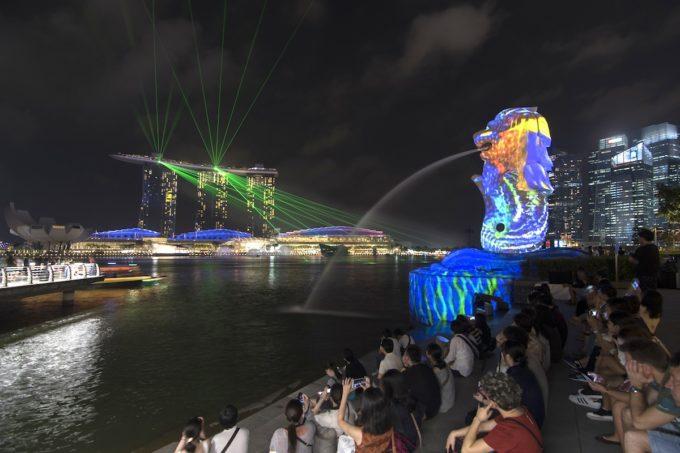 光の祭典「i Light Marina Bay」シンガポール・マリーナ地区で開催中