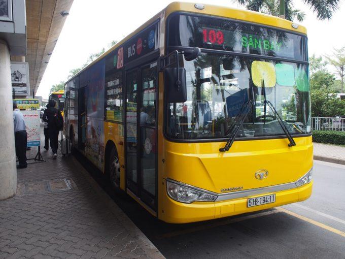 空港からホーチミン市内へ!便利な「109番バス」を利用してみよう